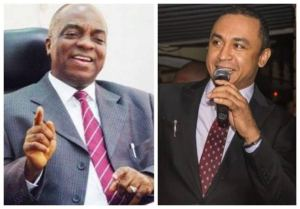 Daddy Freeze, Basketmouth react to Bishop Oyedepo's comment on tithing.
