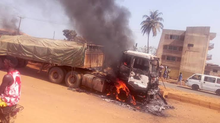 , Outrage as Dangote truck kills one, injures three in Ogun., Effiezy - Top Nigerian News & Entertainment Website
