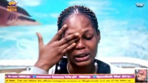 BBNaija 2020: Everyone in the house is acting up – Kaisha breaks down in tears.