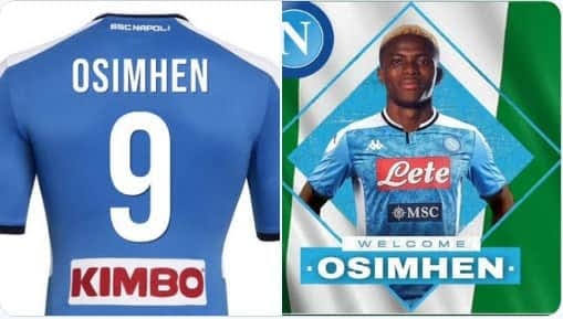 Super Eagles star, Victor Osimhen finally joins Napoli