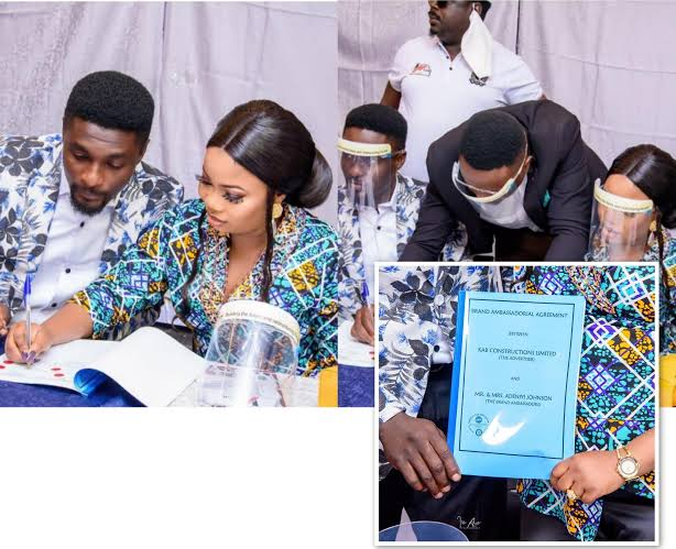 , Celebrity couple, Adeniyi Johnson and Seyi Edun made ambassadors of the same firm., Effiezy - Top Nigerian News & Entertainment Website