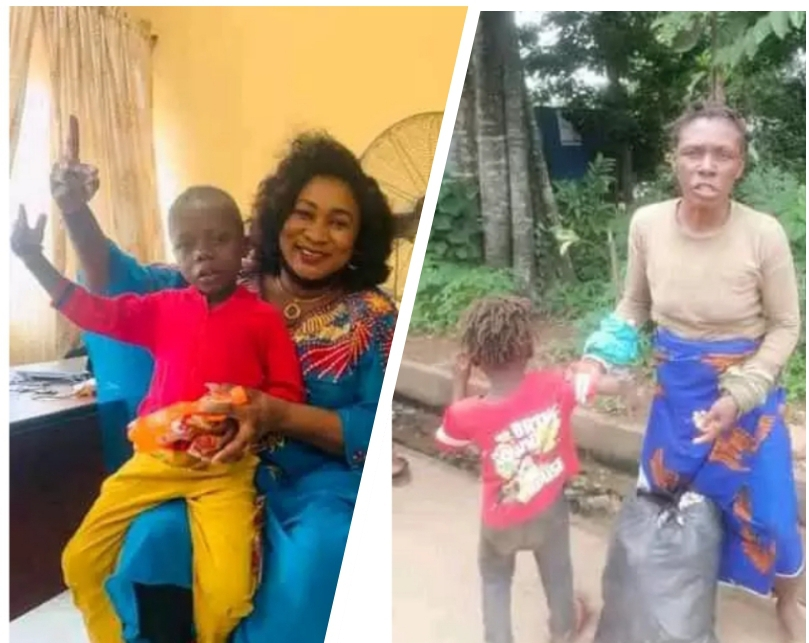 , Mad Woman Fight Her Helpers As They Try To Take Her And Her Son Off Street., Effiezy - Top Nigerian News & Entertainment Website