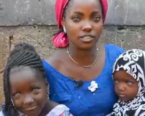 Governor's wife offers to help blue-eyed mum and kids abandoned by husband due to their eye colour (Video)