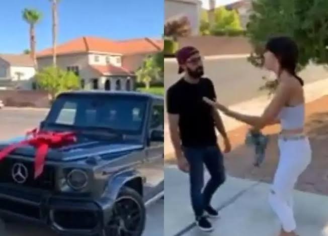 , Lady refuses boyfriend's $175,000 GWagon car gift because it wasn't the colour she wanted (Video), Effiezy - Top Nigerian News & Entertainment Website