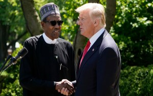 Trump once took me into his office and asked 'Why are you killing Christians?'- Buhari