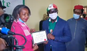 INEC presents certificate of return to Governor Obaseki (Photos)