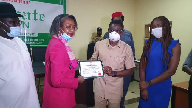 INEC presents certificate of return to Governor Obaseki