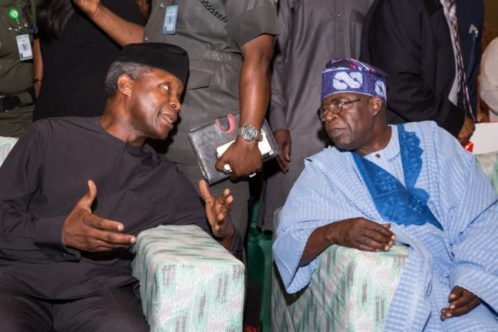 2023: Tinubu told to watch out for Osinbajo's secret plots to outwit him, take over from Buhari