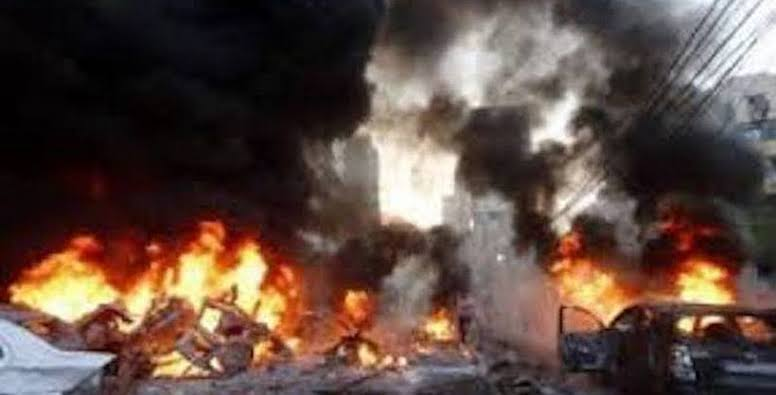 , Fully-loaded petrol tanker veers off road, mosque, houses, shops razed, Effiezy - Top Nigerian News & Entertainment Website
