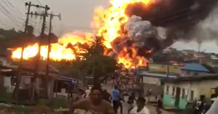 Many injured as gas explodes in Iju, Lagos (Video)