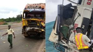Two dead, four rescued as trucks, tanker collide with commercial bus