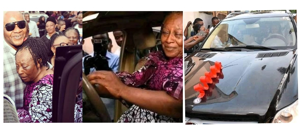 , Patience Ozokwo Receives A Car Gift On Her 62nd Birthday, Effiezy - Top Nigerian News & Entertainment Website