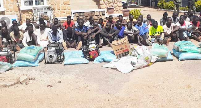 Police parade 87 suspects for looting and vandalization in Osun