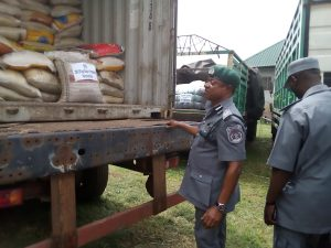 Customs impound 7 vehicles, 396 bags of rice in Lagos