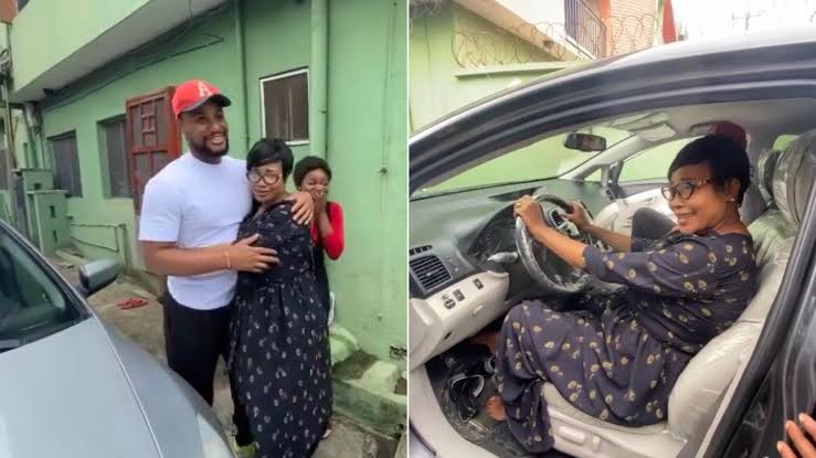 Nollywood actor gift mum a brand new car on independence day (Video)