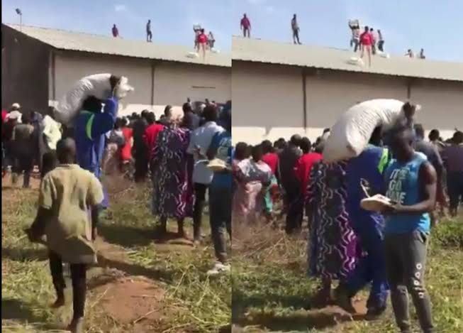 , Residents loot COVID-19 palliatives warehouse in Jos, Effiezy - Top Nigerian News & Entertainment Website