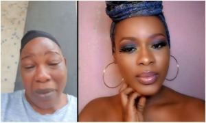 Grieving Nollywood actress Ada Ameh in Abuja for daughter's burial