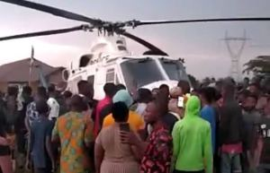 End SARS: Edo people seize helicopter