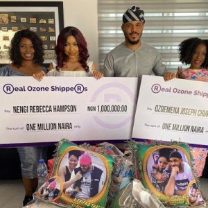 Fans give Nengi and Ozo N1million each (Photos)