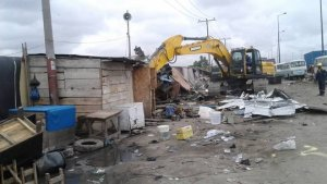 Lagos Task Force demolishes 1,700 shanties, containerised shops