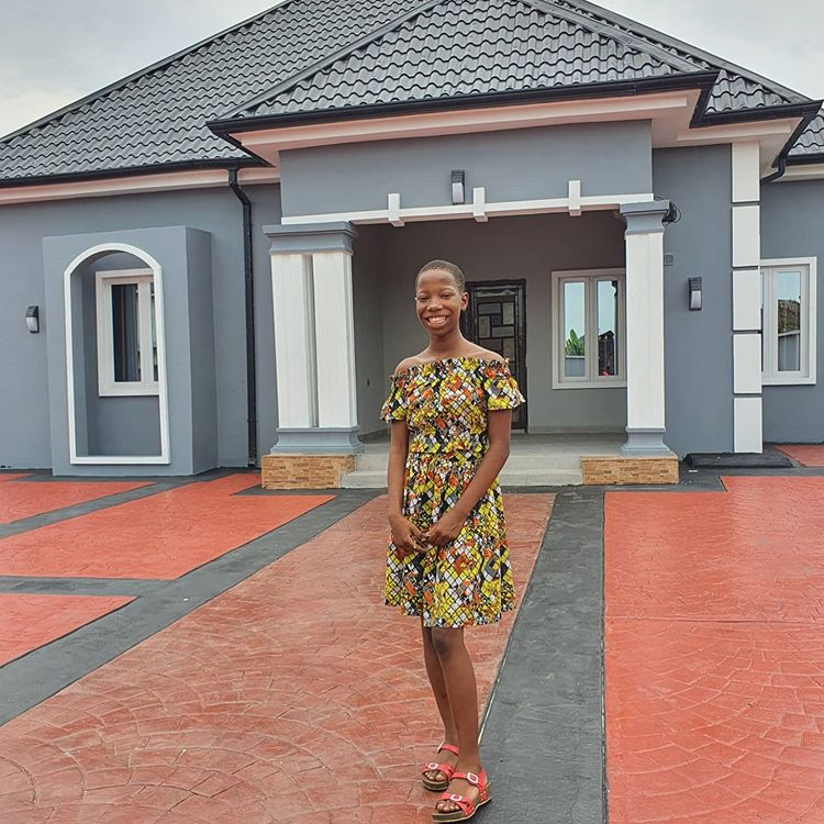 Nigerian child star, Emmanuella gifts her Mum a beautiful home (See Photos)