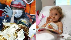 Three-year-old girl rescued alive after 65 hours trapped under rubble in iurkey earthquake