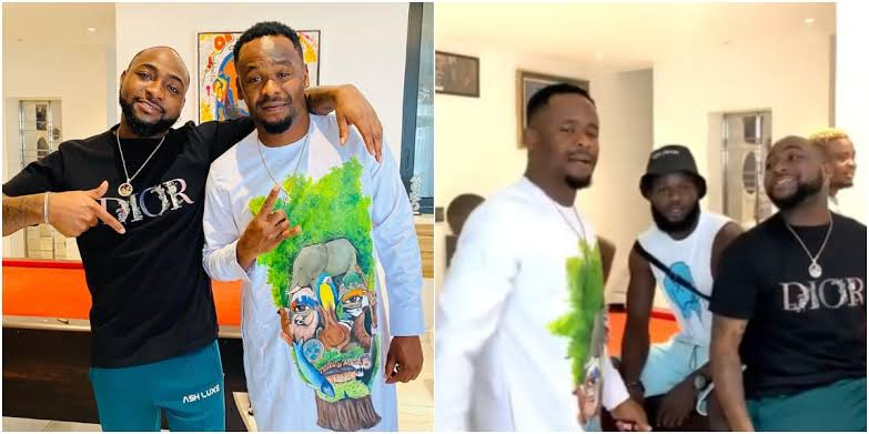 , Actor Zubby Michael gets all excited meeting Davido, Effiezy - Top Nigerian News & Entertainment Website