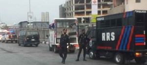 #OccupyLekkiTollGate: Heavily armed mobile policemen storm proposed venue of protest (video)