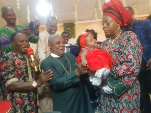 Nigerian pastor and his wife welcome first child after 25 years of marriage (Photos)