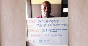 40-Year-old butcher, arrested for defiling his two stepdaughters