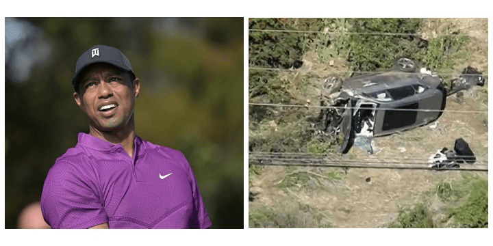 , Tiger Woods hospitalised after car crash, Effiezy - Top Nigerian News & Entertainment Website