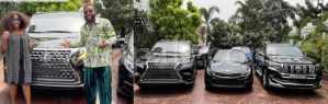 E-Money gives out three expensive cars on his birthday