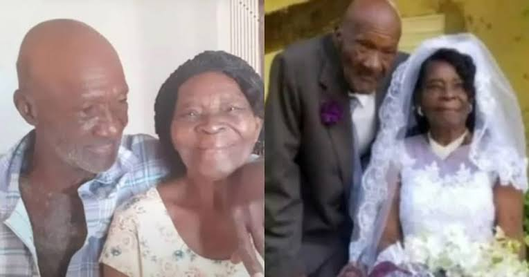 Woman, 91, weds 73 year old manfriend after dating for 10 years