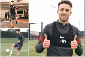 Diogo Jota returns to training after recovering from knee injury