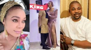 """""""My king is the best"""" Ehi Ogbebor hails her man, MC Oluomo for sending her two policemen to move around with"""