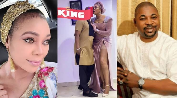 """My king is the best"" Ehi Ogbebor hails her man, MC Oluomo for sending her two policemen to move around with"