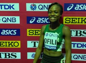 Ofili breaks African 200m record, qualifies for Olympics
