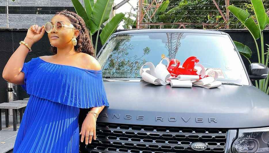 Actress, Mercy Aigbe gets brand new range rover as birthday gift (video + photo)