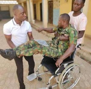 'Nigerian Army, My wife have abandoned me' – Soldier who suffered spinal cord injury while protecting Colonel cries Out (Photos)
