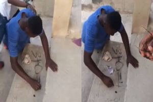 Young man loses Ghs100 after failing to solve 3+0 math question (video)
