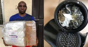 , NDLEA Intercepts cocaine and heroine concealed in earrings, cream containers in Lagos, Effiezy - Top Nigerian News & Entertainment Website