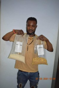 Drug trafficker intercepted at Abuja airport with N564m worth of heroin (Photo)