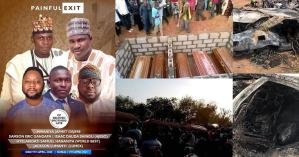 Photos from the burial of five Adamawa friends burnt to death in a ghastly motor accident