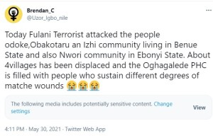 Fulani herdsmen allegedly attack people in Benue and Ebonyi communities, many dead and injured (Graphic video and photos)