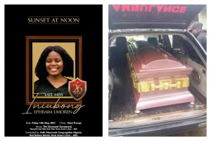 Iniubong Umoren's best friend, Umoh bids her final farewell as she's laid to rest today