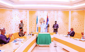 President Buhari receives first ever Made-in-Nigeria Mobile Phone (Photos)