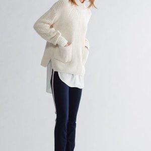 oui cream knit jumper top
