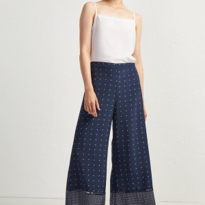 french connection navy culotte trousers