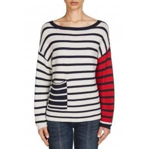 oui stripe ladies knit jumper