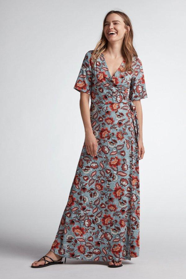 oui maxi wrap summer dress kerry